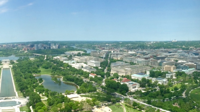 A view of Foggy Bottom from the Washington Monument (Photo Credit: Tyler Daniels)