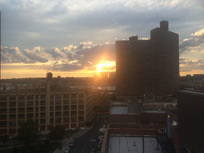 A sunset in Manhattanville. (Photo Credit: Tyler Daniels)