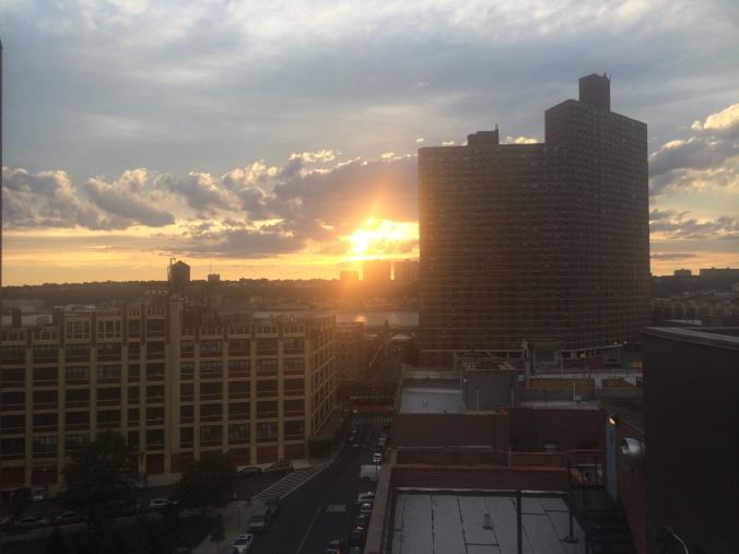 A sunset in Manhattanville. (Photo Credit: Tyler Daniels)